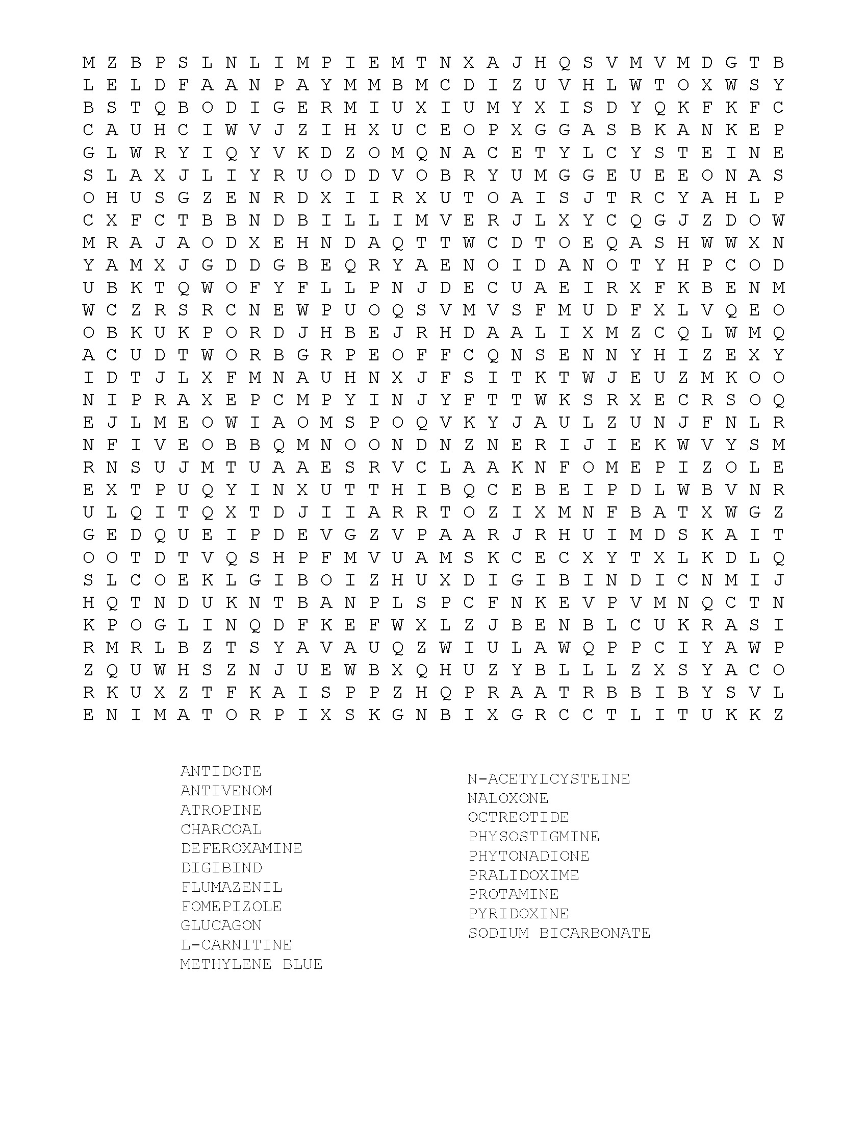 Antidote word search