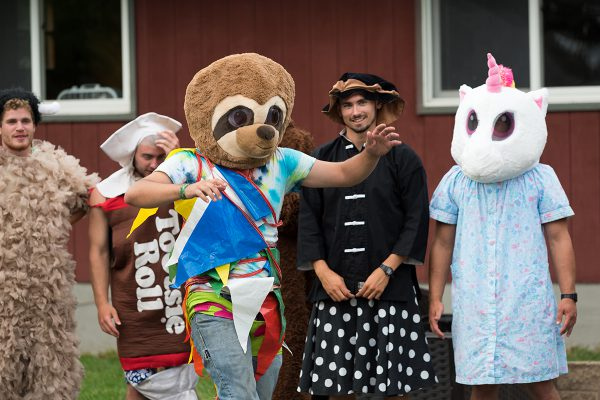 Camp staff dress up in costume for activities