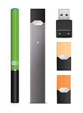 Examples of re-chargeable e-cigarettes