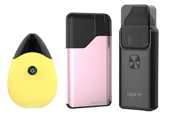 Examples of re-fillable pod vape devices