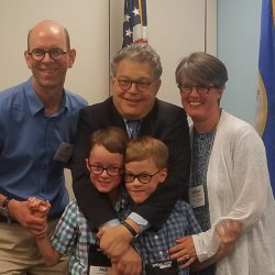 Meeting Senator Franken never disappoints. Not only is he a great advocate of health care and Medicaid funding, he is a master bear hugger!