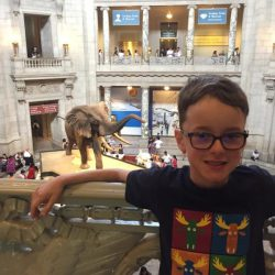 Jack loved visiting the Smithsonian Museum of Natural History.