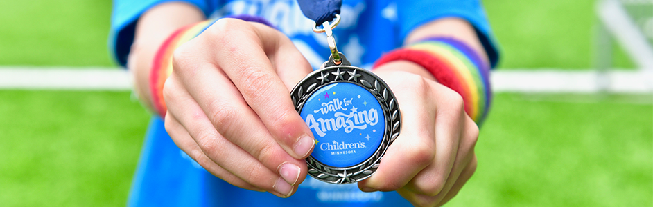 Walk for Amazing medal