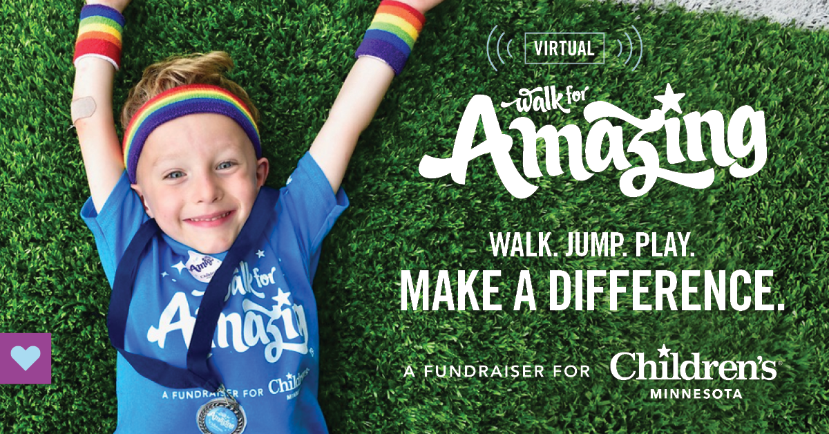 Children's Minnesota's Virtual Walk for Amazing raises over $158,854.