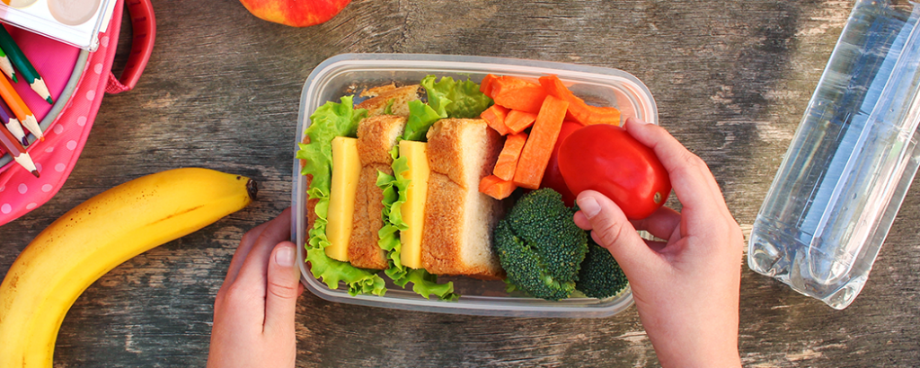 Plant based lunch for kids.