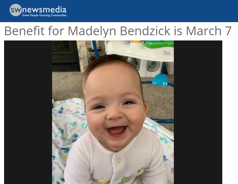 Benefit held for Children's Minnesota fetal surgery patient Madelyn Bendzick