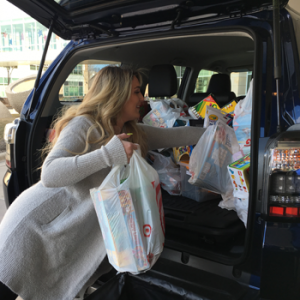 A Toyota 4Runner overflowing with gifts made a special delivery to the Children's Minneapolis hospital campus.
