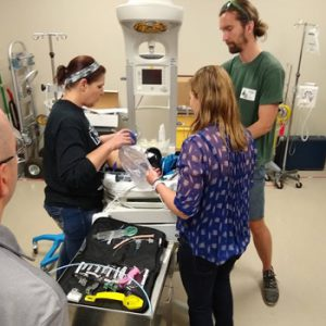 Emergency room doctors and clinicians participate in simulation training at Children's Minnesota.