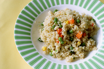 What's quinoa? Quinoa (say: keen-wah) is an alternative to pasta and rice. It has a lot of protein,